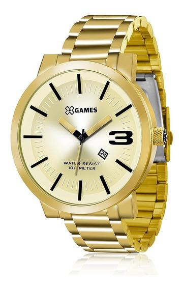 Relógio Masculino Xgames Analógico Xmgs1007 C2kx Dourado