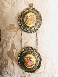 Placas Cuadritos Fragonard 24k Oro Chapeado