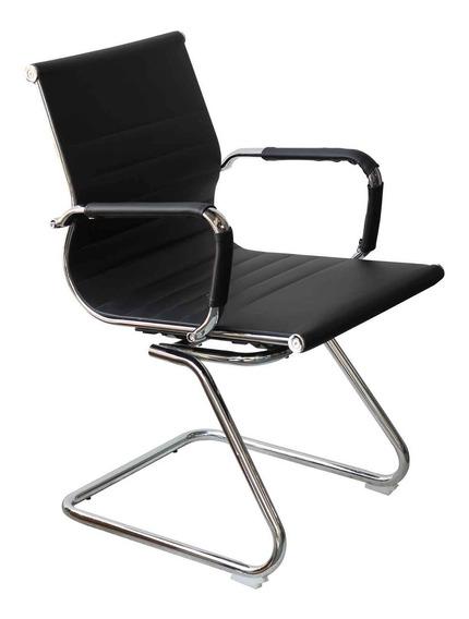 Cadeira Interlocutor Eames Braço Em Aço Cromado - Tander