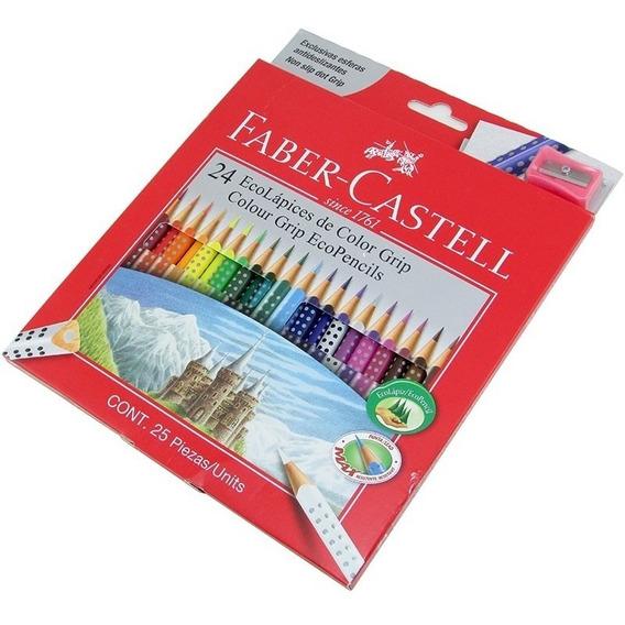 Lapiz Color Largo Faber L.roja Est*24 (pack X2)