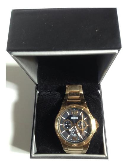 Relógio Oriente Masculino Dourado
