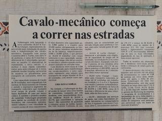 Recorte Jornal Matéria Vw Cavalo Mecânico Caminhão 16 210 H