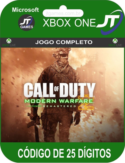 Call Of Duty Mw2 Campaign Remastered Xbox Código 25 Dígitos