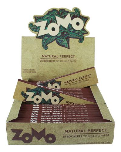 Caixa Seda Zomo Natural Smoking Brown Marrom C/25un Atacado