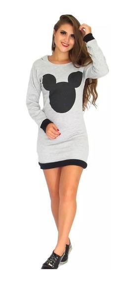Vestido Moletom Mickey Com Capuz Ref: 541