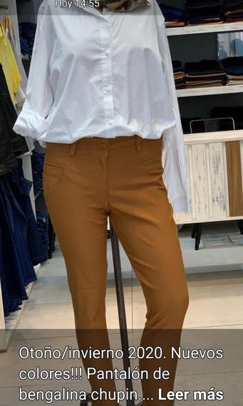 Pantalón De Bengalina Chupin Talles Especiales