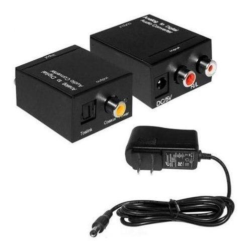 Conversor Áudio Digital Cabo Óptico Ou Coaxial Rca 81654