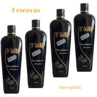 4 Escovas Progressivas D Ouro Cabelos Afro Planaltina