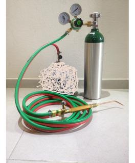 Ppu Maçarico Oxigenio Para Uso Com Gás Glp Manometro Vazio