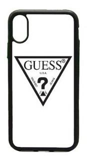 Funda Protector iPhone 5 6 7 8 X Plus Guess Logo Moda
