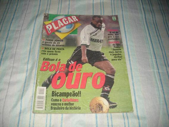 Revista Placar Nº 1147 - Janeiro 1999 - Edílson Bola De Ouro