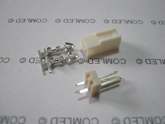 10x Conector 2 Pinos Macho + Fêmea Placa Circuito Fan Pc