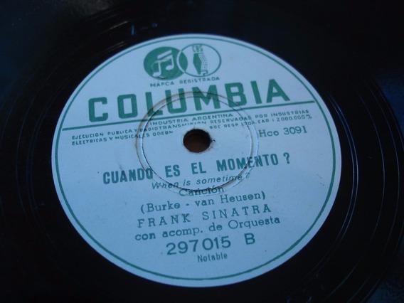 Disco Pasta 78 Rpm Frank Sinatra Columbia C85