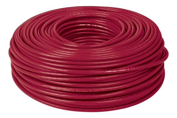 Cable Thhw-ls, 8 Awg, Color Rojo Rollo 100 M Cab-8r 46058