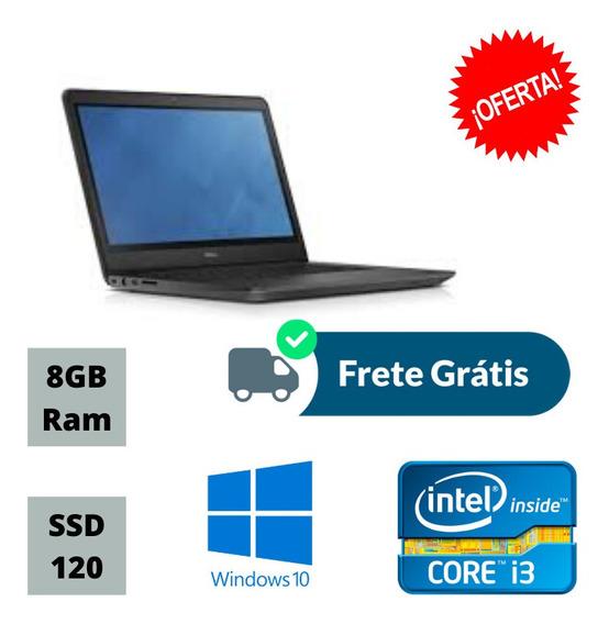 Notebook Dell 3450 Core I3 8gb Ddr3 Ssd 120gb Windows 10 !