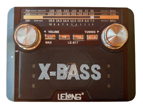 Rádio Portátil Retro 617 Am Fm Sw Usb Sd Lanterna E Brinde