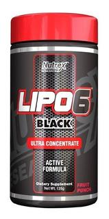 Lipo 6 Black Em Pó 125g Nutrex Termo Diurético Fruit Punch