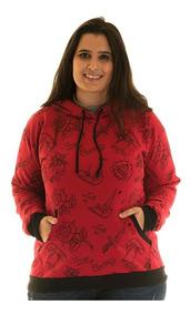 Blusão Moletom Canguru Plus Size 36522