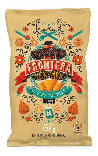 Imagem 1 de 2 de Tortilha Chips Milho C/ Sal Frontera Tex-mex Nachos Mexicano