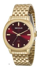 Relógio Seculus Feminino 20565lpsvds1, C/ Garantia E Nf