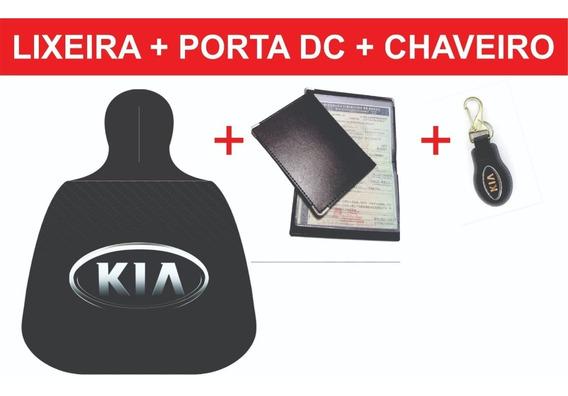 Kia, Lixeirinha + Porta Doc. + Chaveiro + Frete Grátis