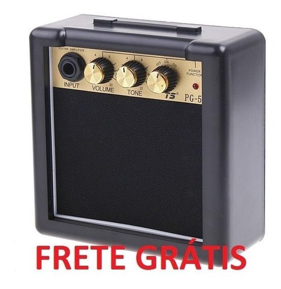 Mini Amplificador Para Violão E Guitarra 5w Portátil Pg-5 Frete Grátis