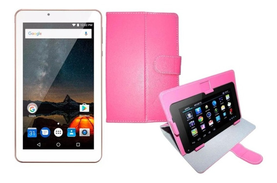 Tablet 7 Rosa Bluetooth 16gb Android 8.1 Wifi + Capa Rosa