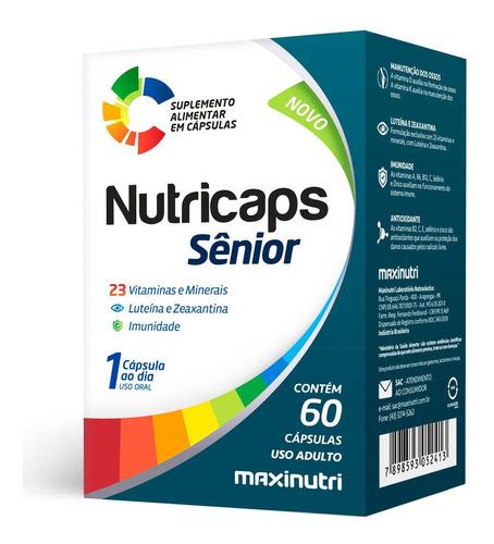 Imagem 1 de 2 de Nutricaps Sênior Vitaminas + Luteína E Zeaxantina 60 Cápsula