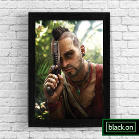 Poster Quadro Decorativo Moldura Game Far Cry 3 Vaas #2