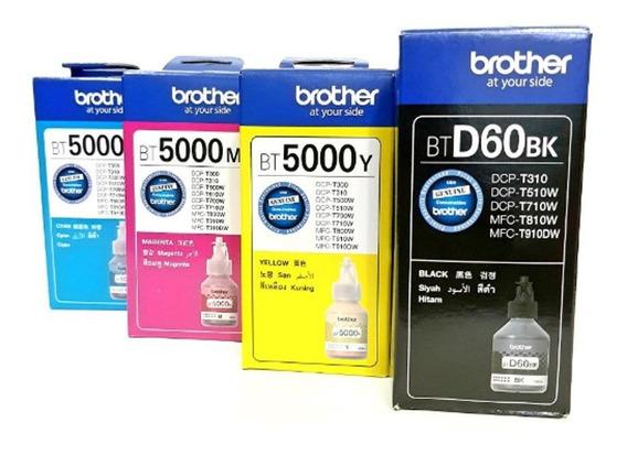 Kit 4 Tintas Brother Cmyk Btd60bk Bt5001cmyk Original