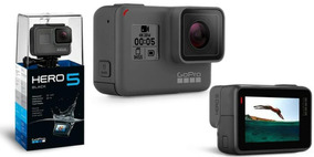 Go Pro Hero5 Black Camera Gopro 5 Tela Lcd +64gb +2 Bastao