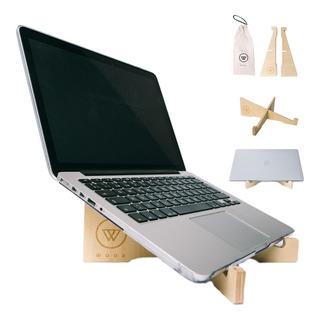 Woox - Soporte De Diseño Para Notebook Hecho En Madera