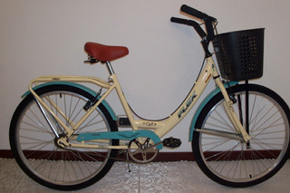 Bicicleta De Paseo Bicolor Rodado 26 Flex Asiento Resortes