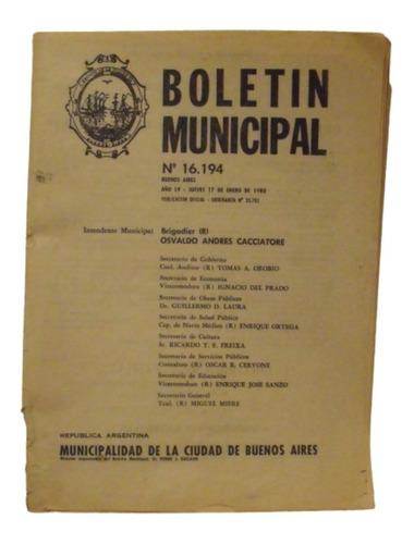 Boletin Municipal De La Ciudad De Buenos Aires 1980 N° 16194