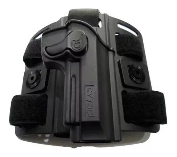 Kit Cytac Muslera+pistolera Polimero Nivel2 P/ Beretta 92