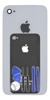 Tampa Traseira Vidro Fundo iPhone 4s A1387 + Ferramentas