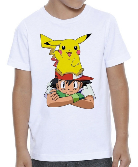 Camiseta Infantil Feminina Harry Potter Pikachu Potter - 739