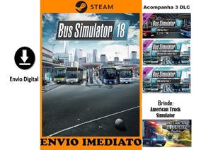 Bus Simulator 18 Pc Original Steam + Dlc + Brinde