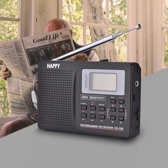 Radio Portátil Digital Sw Am Fm Com Fonte