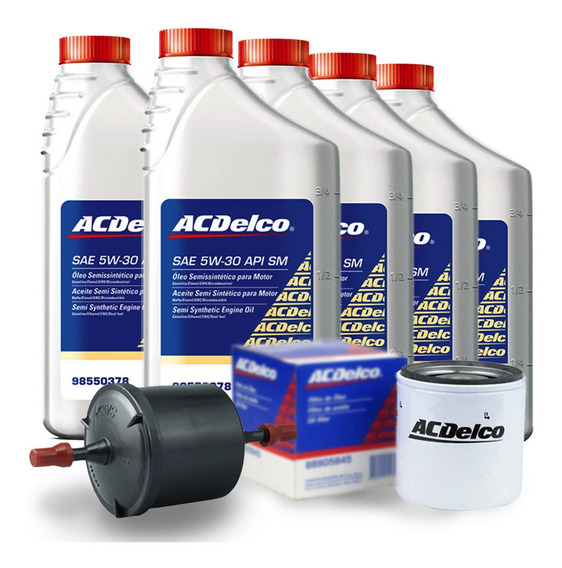 Kit Troca Oleo Filtros 5w30 Semissintetico Astra 2004 A 2011