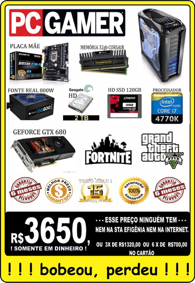 Core I7 32gb 2 Tera 120gb De Ssd - Pc Gamer Corsair