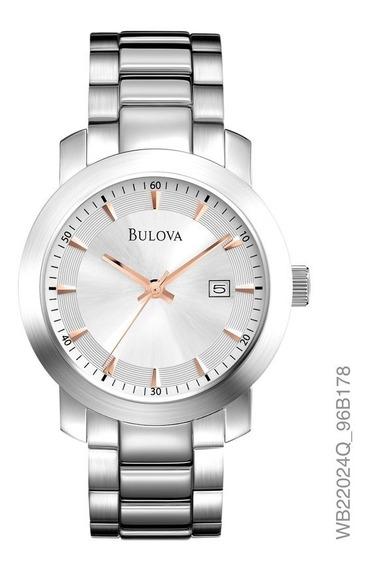 Relógio Bulova Feminino Prata Com Rosé Wb22024q