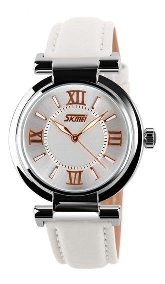 Relógio De Pulso Feminino Skmei 9075 Original Analógico Barato Bonito Promoçao Especial Pulseira Lindo Casual Social Top