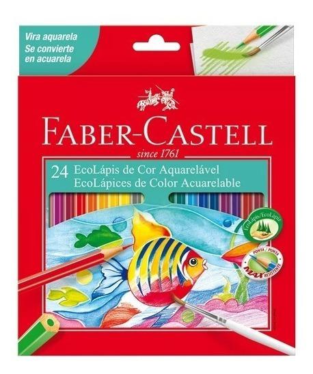 Lapices De Colores Acuarelables X24 Faber Castell + Regalos