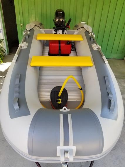 Gomon Five Oceans P/ Alum Con Motor Parsun 15 Hp