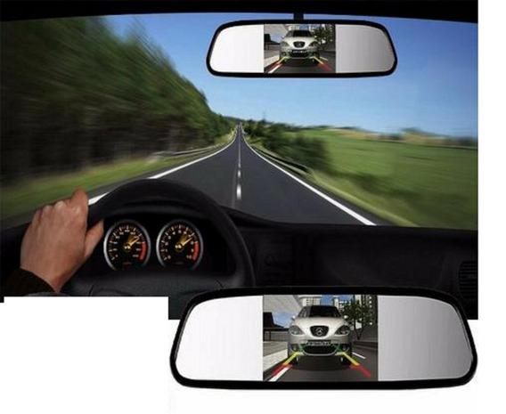 Espelho Retrovisor Para Câmera De Ré Tela Lcd 4,3