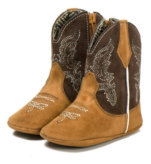 Bota Bebê Country Infantil Texana Em Couro Ecologico Boots.