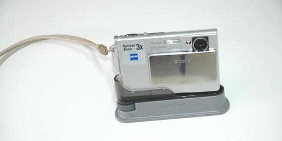 Camera Sony 5.1 Cyber Shot + Capa Tirar Fotos Embaixo D