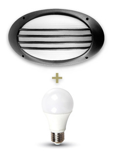 Aplique Tortuga 4 Rayas E27 Exterior 1 Luz + Lámpara Led