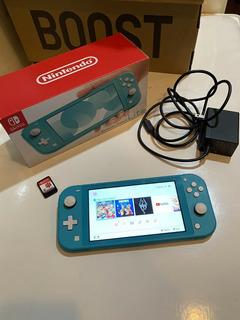 Consola Nintendo Switch Lite Azul Con Un Juego